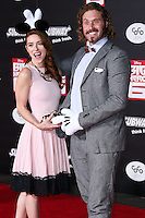 HOLLYWOOD, LOS ANGELES, CA, USA - NOVEMBER 04: Kate Gorney, T.J. Miller arrive at the Los Angeles Premiere Of Disney's 'Big Hero 6' held at the El Capitan Theatre on November 4, 2014 in Hollywood, Los Angeles, California, United States. (Photo by Xavier Collin/Celebrity Monitor)