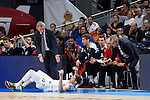 Bayern Munich´s coach Svetislav Pesic and Real Madrid´s player Andres Nocioni during the 4th match of the Turkish Airlines Euroleague at Barclaycard Center in Madrid, Spain, November 05, 2015. <br /> (ALTERPHOTOS/BorjaB.Hojas)
