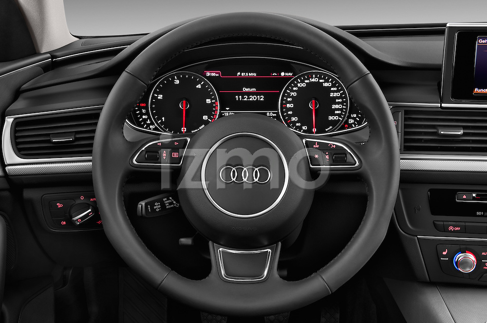 Steering wheel view of a 2014 Audi A6 AVUS 5 Door Wagon 2WD