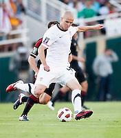 PASADENA, CA – June 25, 2011: USA player Michael Bradley (4) during the Gold Cup Final match between USA and Mexico at the Rose Bowl in Pasadena, California. Final score USA 2 and Mexico 4.