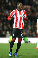 Brentford's recent signing from Oxford United, Shandon Baptiste during Brentford vs Leeds United, Sky Bet EFL Championship Football at Griffin Park on 11th February 2020