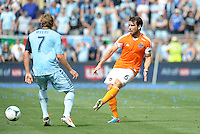 Mike Chabala (6) defender Houston Dynamo in action..Sporting Kansas City and Houston Dynamo played to a 1-1 tie at Sporting Park, Kansas City, Kansas.