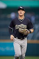 Scranton/Wilkes-Barre RailRiders right fielder Trey Amburgey (29) during an International League game against the Buffalo Bisons on June 5, 2019 at Sahlen Field in Buffalo, New York.  Scranton defeated Buffalo 4-0, the second game of a doubleheader.  (Mike Janes/Four Seam Images)