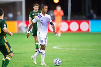 LAKE BUENA VISTA, FL - AUGUST 11: Nani #17 of Orlando City SC dribbles the ball during a game between Orlando City SC and Portland Timbers at ESPN Wide World of Sports on August 11, 2020 in Lake Buena Vista, Florida.