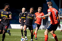 17th April 2021; Kenilworth Road, Luton, Bedfordshire, England; English Football League Championship Football, Luton Town versus Watford; João Pedro of Watford with an attack for Watford as Bradley of Luton closes in