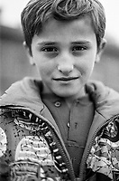 A Bosnian child at the Varazdin refugee camp  in the winter of 1992. <br /> <br /> In 1992 while volunteering at the Varazdin refugee camp Panos photographer Bjoern Steinz met and became close to Elvis, a Bosnian Muslim refugee, and his family. They shared the hardships of camp life together which Steinz documented. While the prints were archived for many years two of the images always returned to Bjoern's thoughts. 25 years later he set out to try and find out what had happened to Elvis and his family in the intervening years. Modern social media made the task surprisingly easy and they were reunited in Hadzici where Elvis now lives with his family.