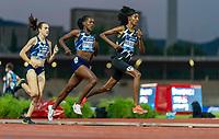 10th June 2021; Stadio Luigi Ridolfi, Florence, Tuscany, Italy; Muller Diamond League Grand Prix Athletics, Florence and Rome; Sifan Hassan leads Faith Kipyegon and Laura Muir