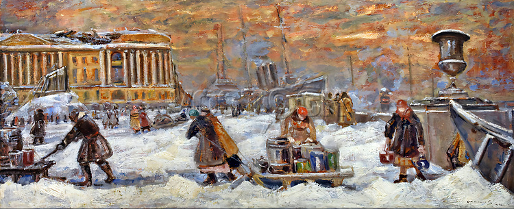 Getting Water 1942 by Vasily Kuchumov. Soviet Union Communist Propaganda.
