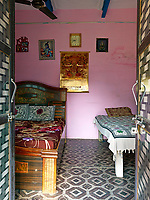 All the rooms in the house have double doors opening on to a central courtyard.  8 of the 12 rooms are bedrooms