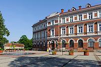 Rozu Laukums (alter Markt) in Cesis, Lettland, Europa