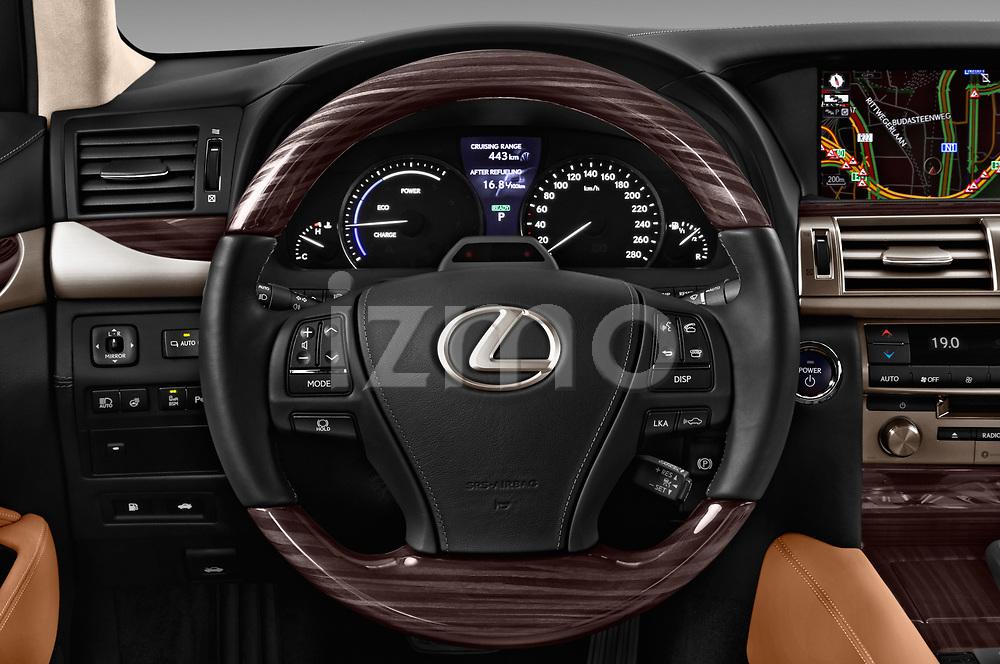 Car pictures of steering wheel view of a 2016 Lexus LS 600H-L-President-Line 4 Door Sedan Steering Wheel