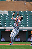 Salt River Rafters third baseman Jeff McNeil (10) catches a popup during an Arizona Fall League game against the Surprise Saguaros on October 20, 2015 at Salt River Fields at Talking Stick in Scottsdale, Arizona.  Surprise defeated Salt River 3-1.  (Mike Janes/Four Seam Images)