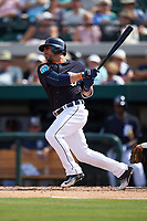 Detroit Tigers shortstop Mike Aviles (14) at bat during an exhibition game against the Florida Southern Moccasins on February 29, 2016 at Joker Marchant Stadium in Lakeland, Florida.  Detroit defeated Florida Southern 7-2.  (Mike Janes/Four Seam Images)