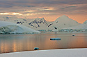 The view from Dutch's Dome, Leith Cove in Paradise Bay, Antarctica.