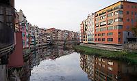 The landmark view of Girona/Spain