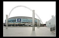 Wembley Stadium (Built 2003 - 2007) - Borough of Brent, London - 13th February 2007 - <br /> <br /> Designed by Foster and Partners and Populous, the 90,000 capacity venue is the second largest stadium in Europe, and serves as England's national stadium.