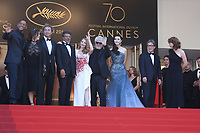 WILL SMITH, AGNES JAOUI, PAOLO SORRENTINO, GABRIEL YARED, JESSICA CHASTAIN, PEDRO ALMODOVAR, FAN BINGBING, PARK CHAN-WOOK AND MAREN ADE - RED CARPET OF THE CLOSING CEREMONY AT THE 70TH FESTIVAL OF CANNES 2017