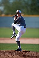 Ethan Jeske (1) of Wylie High School in Murphy, Texas during the Baseball Factory All-America Pre-Season Tournament, powered by Under Armour, on January 13, 2018 at Sloan Park Complex in Mesa, Arizona.  (Mike Janes/Four Seam Images)