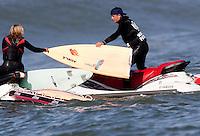 Broken Board. Mavericks Surf Contest in Half Moon Bay, California on February 13th, 2010.