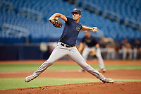 Matthew Liberatore (23) delivers a pitch during the Tampa Bay Rays Instructional League Intrasquad World Series game on October 3, 2018 at the Tropicana Field in St. Petersburg, Florida.  (Mike Janes/Four Seam Images)