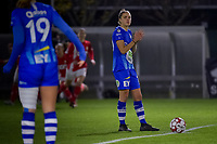 midfielder Chloe Vande Velde (10) ready to start the female soccer game between  AA Gent Ladies and Standard Femina de Liege on the 8 th matchday of the 2020 - 2021 season of Belgian Scooore Womens Super League , friday 20 th of November 2020  in Oostakker , Belgium . PHOTO SPORTPIX.BE | SPP | STIJN AUDOOREN