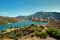A nice summer day at Pyramid Lake, CA. A man-made reservoir used apart of the California State Water Project.