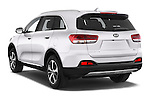 Car pictures of rear three quarter view of a 2015 KIA Sorento Fusion AWD 5 Door Suv Angular Rear