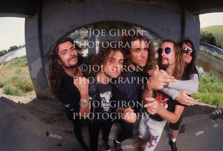 Various portrait sessions of the rock band, Exodus