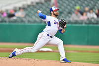 Tennessee Smokies starting pitcher Cory Abbott (30) delivers a pitch during a game against the Birmingham Barons at Smokies Stadium on May 15, 2019 in Kodak, Tennessee. The Smokies defeated the Barons 7-3. (Tony Farlow/Four Seam Images)