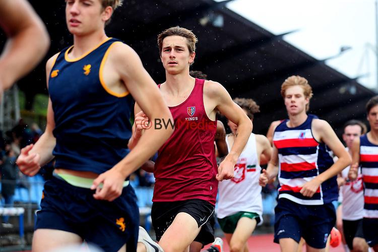 Zane Powell, Kings College, 3000m Senior Boys. Auckland Secondary Schools Athletic Championships, Mt Smart Stadium, Auckland, Tuesday 30 March 2021. Photo: Simon Watts/www.bwmedia.co.nz