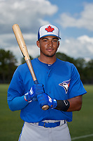 Toronto Blue Jays Leonardo Jimenez (52) poses for a photo after a Minor League Extended Spring Training game against the Detroit Tigers on May 23, 2019 at TigerTown in Lakeland, Florida.  (Mike Janes/Four Seam Images)