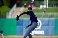 Midland RockHounds pitcher Brian Howard (23) delivers pitch on May 4, 2019, at Arvest Ballpark in Springdale, Arkansas. (Jason Ivester/Four Seam Images)