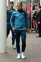 Stephen Kingsley of Swansea City arrives prior to the game during the Premier League match between Southampton and Swansea City at the St Mary's Stadium, Southampton, England, UK. Saturday 12 August 2017