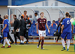 Hearts ineligible player Andrew Irving after the final whistle against Cove Rangers last night in the Betfred Cup
