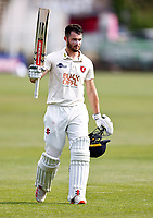 Ollie Robertson of Kent takes the applause at the end of his innings during Kent CCC vs Northamptonshire CCC, LV Insurance County Championship Group 3 Cricket at The Spitfire Ground on 5th June 2021