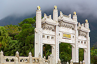 Part of the development around the Budist Temple in Hong Kong, China.