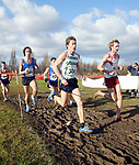 304 Ian Mitchell (Tipton Harriers) leads the way from 402 Peter Kellie (Gloucester) and 349 Jorge Thomas (Cardiff AAC).<br /> Welsh Cross Country Championships<br /> Leckwith Stadium<br /> 20.02.05<br /> ©Steve Pope<br /> Sportingwales.com<br /> 07798 83 00 89<br /> The Manor <br /> Coldra Woods<br /> Newport<br /> South Wales<br /> NP18 1HQ