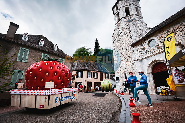 The publicity caravan before Stage 16 of the 2021 Tour de France, running 169km from Pas de la Case to Saint-Gaudens, France. 13th July 2021.  <br /> Picture: A.S.O./Aurelien Vialatte | Cyclefile<br /> <br /> All photos usage must carry mandatory copyright credit (© Cyclefile | A.S.O./Aurelien Vialatte)