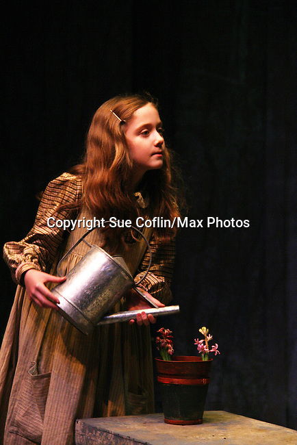 "Isabella Convertino - daughter of Liz Keifer stars in this musical as ""Mary Lennox"" as Philipstown Depot Theatre presents The Secret Garden on November 15, 2009 in Garrison, New York. The musical The Secret Garden is the story of ""Mary Lennox"", a rich spoiled child who finds herself suddenly an orphan when cholera wipes out the entire Indian village where she was living with her parents. She is sent to live in England with her only surviving relative, an uncle who has lived an unhappy life since the death of his wife 10 years ago. ""Archibald's son Colin"", has been ignored by his father who sees Colin only as the cause of his wife's death.This is essentially the story of three lost, unhappy souls who, together, learn how to live again while bringing Colin's mother's garden back to life. (Photo by Sue Coflin/Max Photos)........"