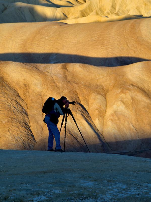 Photographer at Zabriskie Point. Death Valley National Park, California