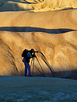 Photographer at Zabriskie Point. Death Valley National Park, California