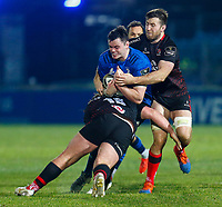 8th January 2021; RDS Arena, Dublin, Leinster, Ireland; Guinness Pro 14 Rugby, Leinster versus Ulster; James Ryan of Leinster is tackled by Alan O'Connor and Kieran Treadwell of Ulster