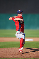 Williamsport Crosscutters starting pitcher Bailey Falter (9) delivers a pitch during a game against the Auburn Doubledays on June 26, 2016 at Falcon Park in Auburn, New York.  Auburn defeated Williamsport 3-1.  (Mike Janes/Four Seam Images)