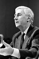 Montreal ,  Canada- File -  Andre Chagnon, Videotron  attend the CRTC Hearing, Dec 1, 1986.