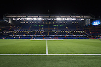 General view of Stamford Bridge Stadium, home of Chelsea Football Club, ahead of the UEFA Champions League Group match between Chelsea and Dynamo Kyiv at Stamford Bridge, London, England on 4 November 2015. Photo by David Horn.