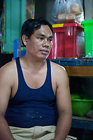 Nila's* husband Ko Kyaw Kyaw*, 44. They run a home-based business baking cakes and packaging dry noodles which are sold in local markets.