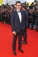 Michel Hazanavicius sur le tapis rouge pour la soirée dans le cadre de la journée anniversaire de la 70e édition du Festival du Film à Cannes, Palais des Festivals et des Congres, Cannes, Sud de la France, mardi 23 mai 2017.