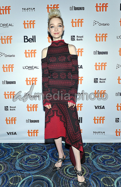"10 September 2017 - Toronto, Ontario Canada - Julia Sarah Stone. 2017 Toronto International Film Festival - ""A Worthy Companion"" Premiere held at Scotiabank Theatre. Photo Credit: Brent Perniac/AdMedia"