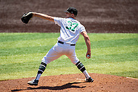 Wright State Raiders pitcher Mitch Gremling (37) delivers a pitch to the plate against the Duke Blue Devils in NCAA Regional play on Robert M. Lindsay Field at Lindsey Nelson Stadium on June 5, 2021, in Knoxville, Tennessee. (Danny Parker/Four Seam Images)
