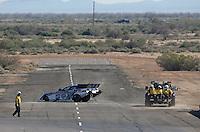 Feb. 23, 2013; Chandler, AZ, USA; NHRA funny car driver Robert Hight during qualifying for the Arizona Nationals at Firebird International Raceway. Mandatory Credit: Mark J. Rebilas-
